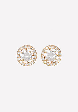 bebe Crystal Circle Earrings