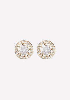 bebe Crystal Circle Earrings