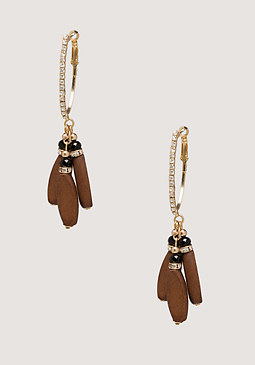 bebe Wood Bead Earrings