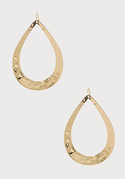 bebe Textured Teardrop Earrings