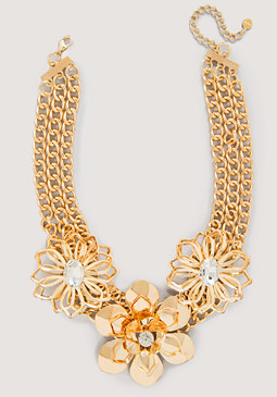 Flower Station Necklace at bebe