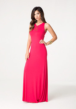 bebe Knot Detail Maxi Dress