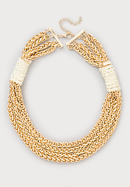 bebe Cord Detail Chain Necklace