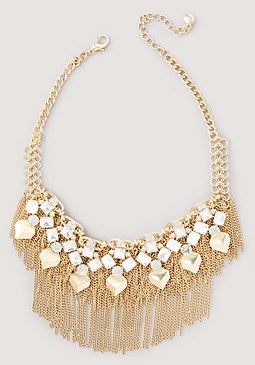 bebe Chain & Geo Drop Necklace