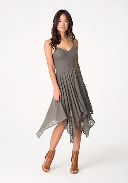 bebe Flame Stitch Knit Dress