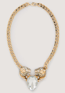 bebe Jaguar & Crystal Necklace