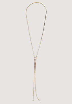 bebe Graduated Crystals Necklace