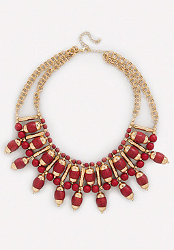 bebe Stone Sunburst Necklace