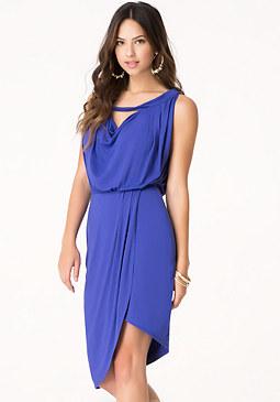 bebe Blouson Bardot Dress