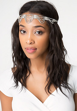 bebe Draped Crystal Headpiece