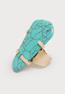 bebe Turquoise Cocktail Ring