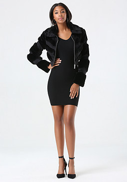 bebe Monica Faux Fur Jacket