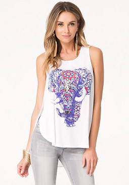 bebe Elephant Graphic Tank