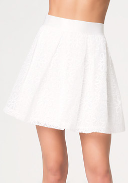 bebe Embroidered Volume Skirt