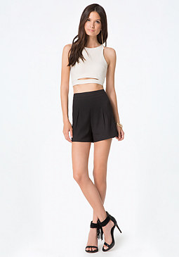 bebe Slit Front Crop Top