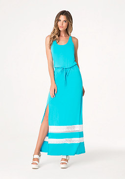 bebe Logo Strappy Maxi Dress