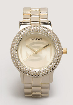 bebe Interlocking Logo Watch