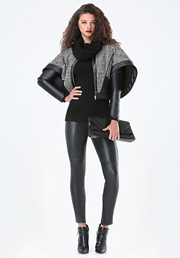 bebe Star Cape Sleeve Jacket