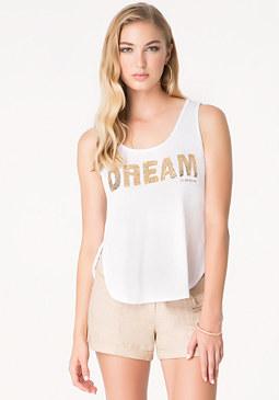 bebe Sequin Dream Tank