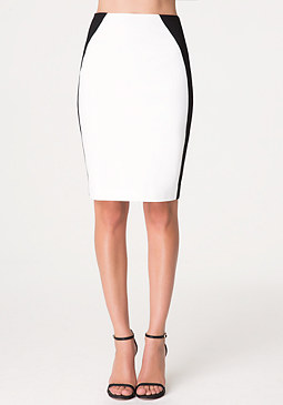 bebe Josie Colorblock Skirt