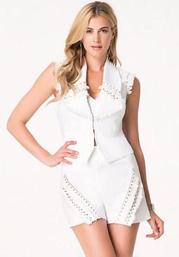 bebe Lauren Embellished Vest