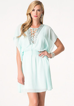 bebe Jeweled Kaftan Dress