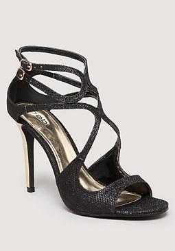 bebe Krystal Glitter Sandals
