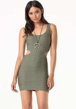 bebe Side Cutout Tank Dress
