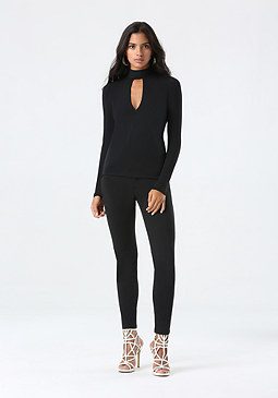 bebe High Rise Tux Skinny Pants