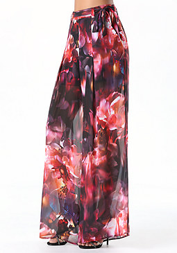 bebe High Waist Wide Leg Pants