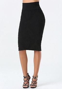 bebe Jacquard Midi Skirt