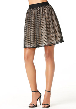 bebe Dotted Tulle Skirt