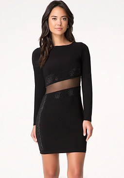 bebe Alex Embellished Dress