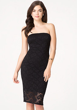 bebe Alexis Lace Tube Dress