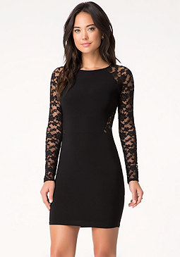bebe Elsa Lace Block Dress