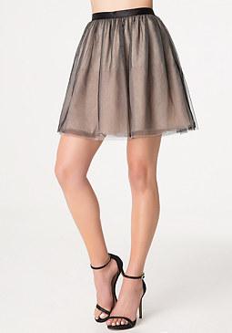 bebe Layered Tulle Miniskirt