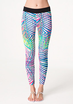 bebe Logo Print Leggings