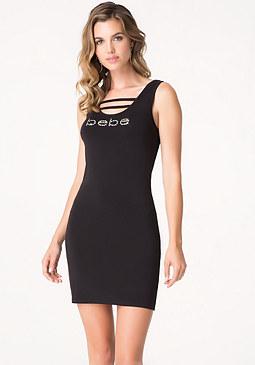 bebe Logo Strap Tank Dress