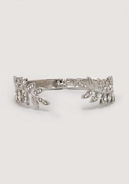 bebe Metal Leaf Hinge Bracelet