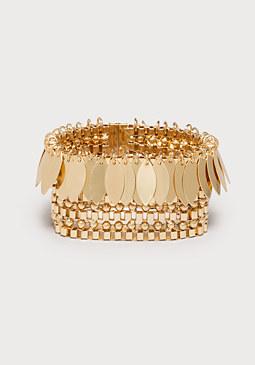 bebe Chain & Leaf Bracelet