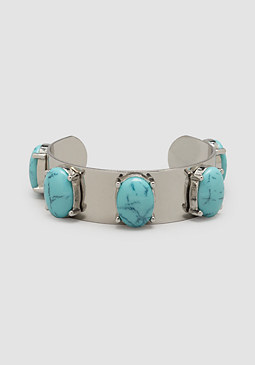 bebe Turquoise Stone Cuff