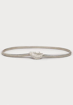 bebe Feather Snake Chain Belt