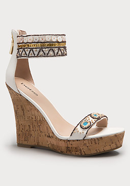 bebe Ilka Beaded Wedges