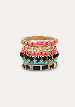 bebe Colorful Bracelet Set