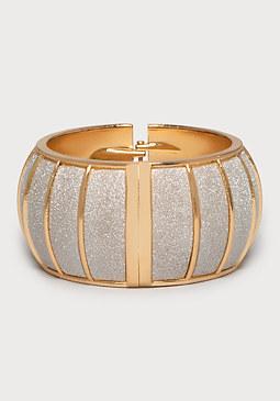 bebe Glitter Dome Bracelet