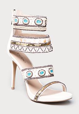 bebe Lolana Beaded Sandals
