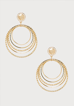 bebe Textured Circle Earrings