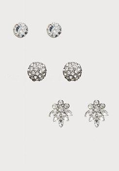 bebe Mixed Crystal Earring Set