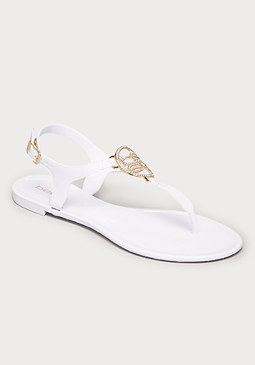 bebe Logo Madhuri Jelly Sandals