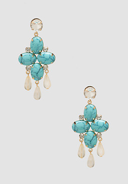 bebe Multi-Stone & Bead Earrings